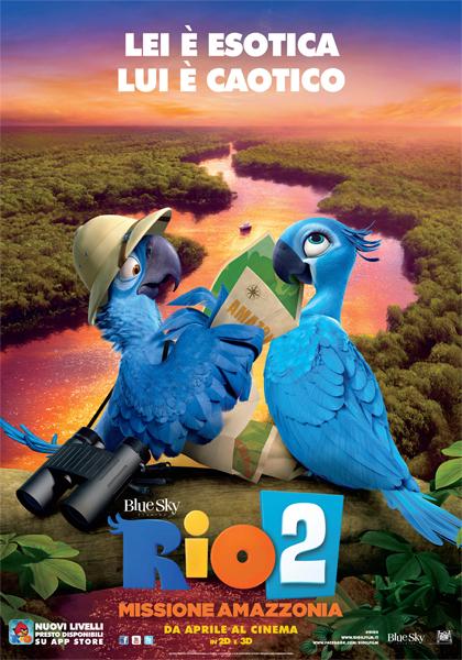 Locandina italiana Rio 2 - Missione Amazzonia