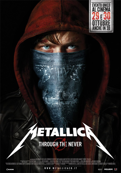 Locandina italiana Metallica 3D - Through the Never