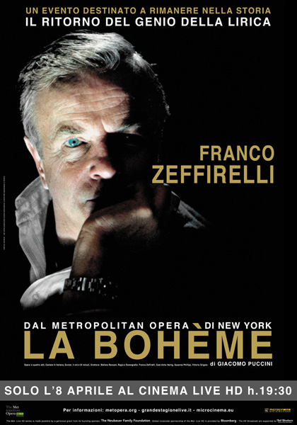 Locandina italiana The Metropolitan Opera di New York: La Bohème
