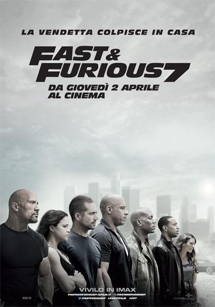 Locandina italiana Fast & Furious 7