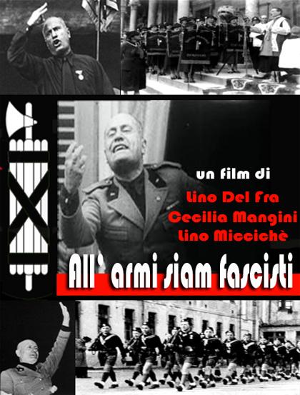 Locandina italiana All'armi siam fascisti