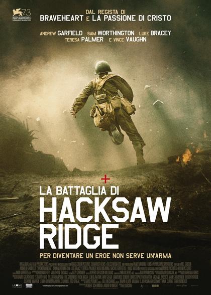 Locandina italiana La battaglia di Hacksaw Ridge