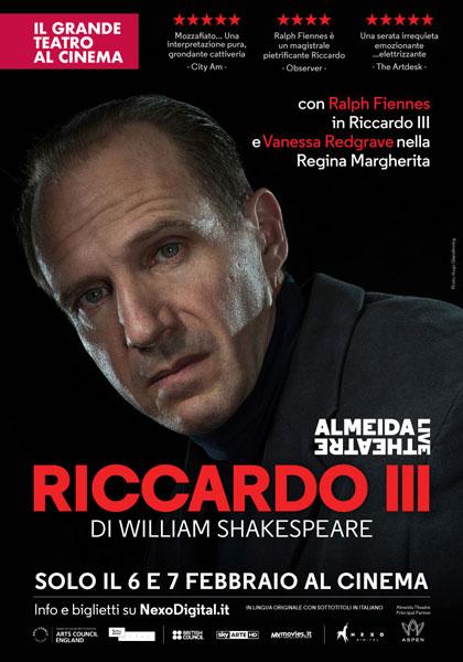 Locandina italiana Almeida Theatre Live - Riccardo III