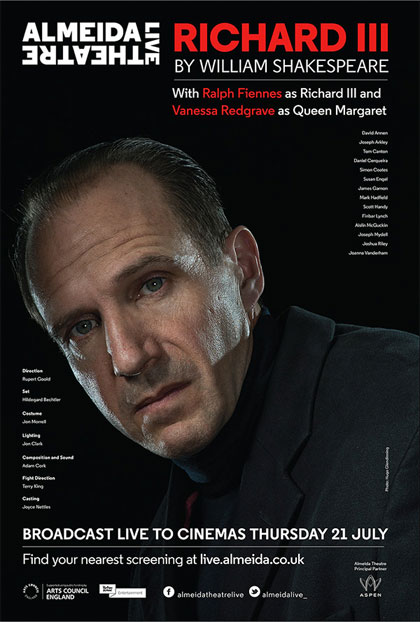 Poster Almeida Theatre Live - Riccardo III