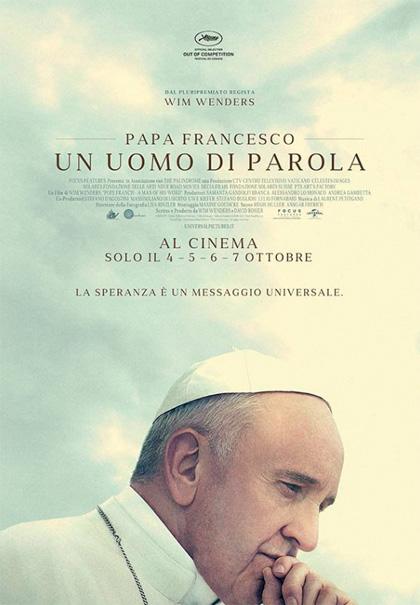 Locandina italiana Papa Francesco - Un Uomo di Parola