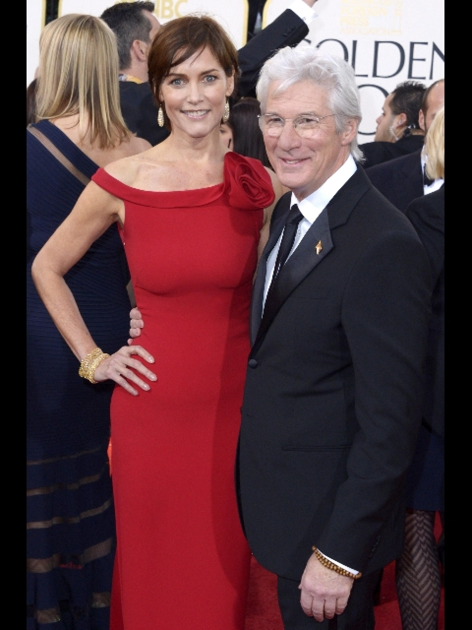 Richard Gere con la moglie al 70/mo Golden Globe Awards ...Richard Gere 2013 Wife